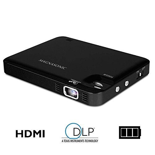 in the picture:Magnasonic LED Pocket Pico Video Projector, HDMI, Rechargeable Battery, Built-in Speaker, DLP, 60 inch Hi-Resolution Display for Streaming Movies, Presentations, Smartphones, Tablets, Laptops (PP60) lots of color options – get more info:https://www.amazon.com/dp/B016N98GG6    Is ...