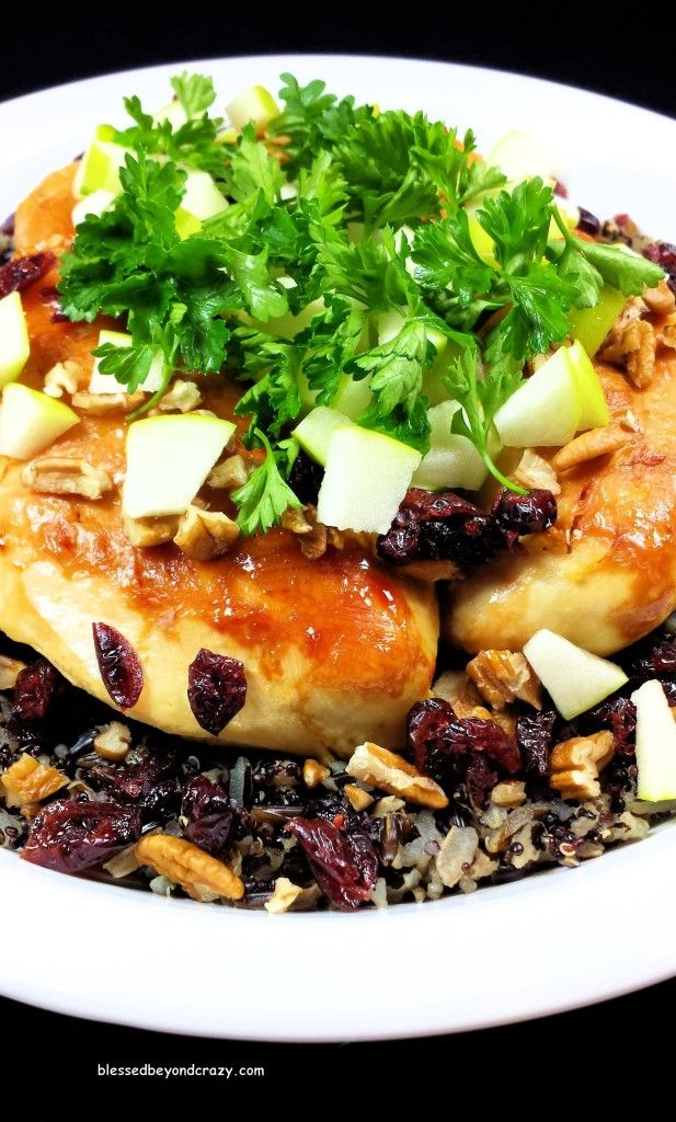 Wild Rice Quinoa Chicken with Citrus Vinaigrette (GF) - a copycat recipe for Applebee's Cedar Grilled Lemon Chicken with Quinoa.