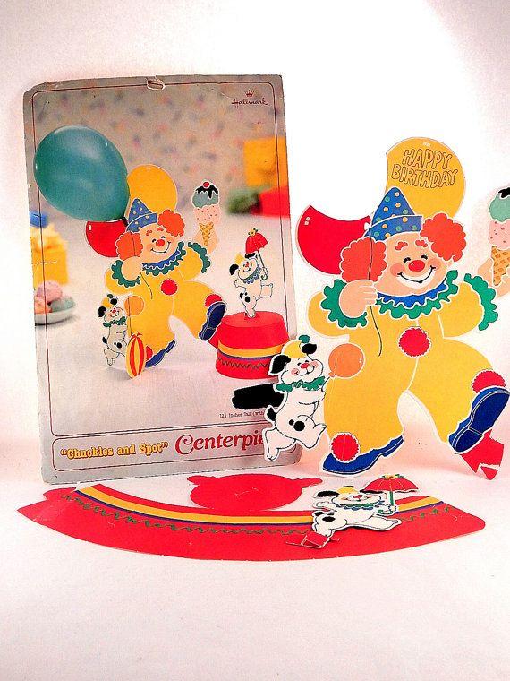 Clown and Dog Centerpiece Children's Birthday Party
