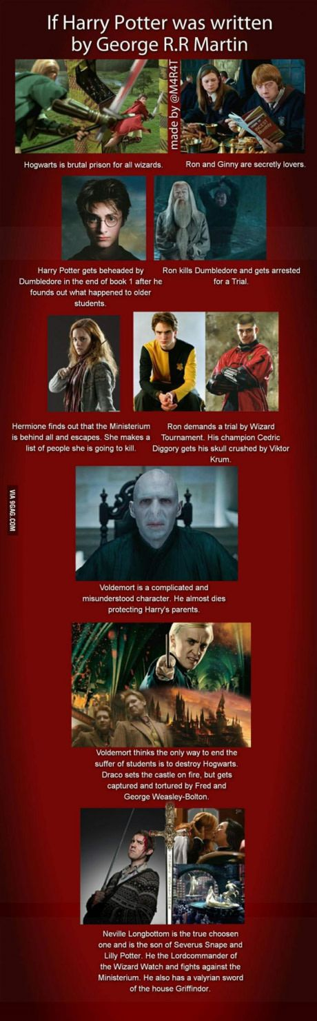 If Harry Potter was written by George R.R Martin