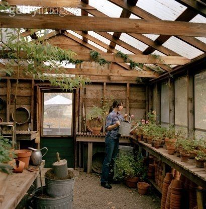 garden shed with greenhouse attached