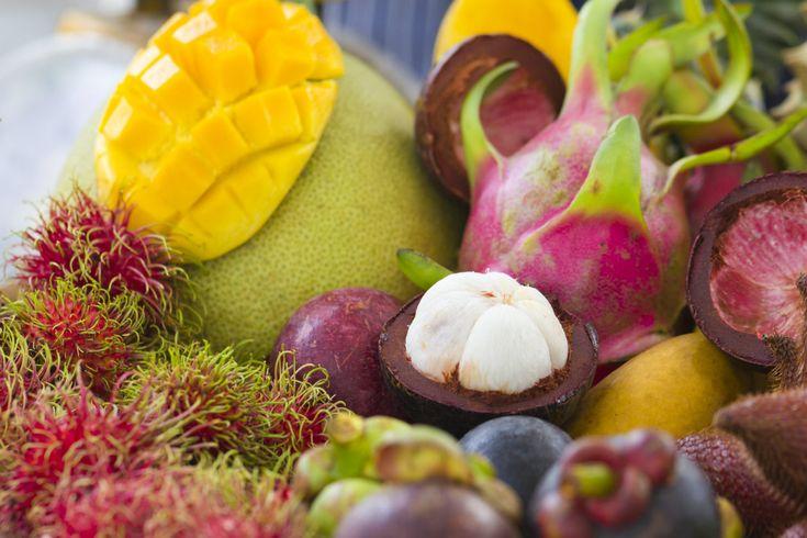 Exóticas comidas con frutas