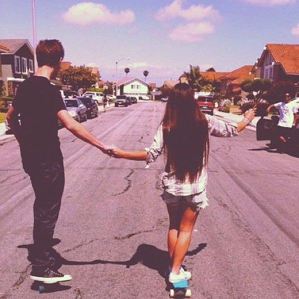 Tumblr Couple #pennyboarders #cute Love ❤ liked on Polyvore featuring couples, icons, pictures, backgrounds and pics