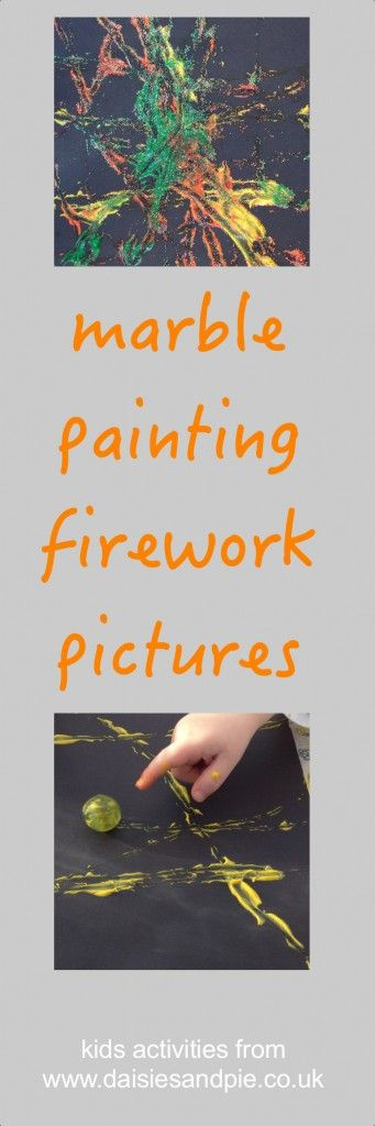 Marble painting firework pictures a really fun and messy painting activity for kids  | Daisies & Pie