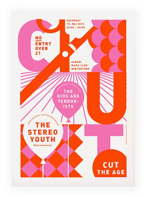 cut the age | poster for the cut party | Philipp Dornbierer | Flickr