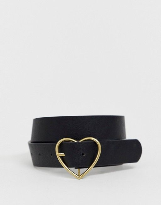 fdec71f5ae6 My Accessories London black belt with gold heart buckle in 2019 ...