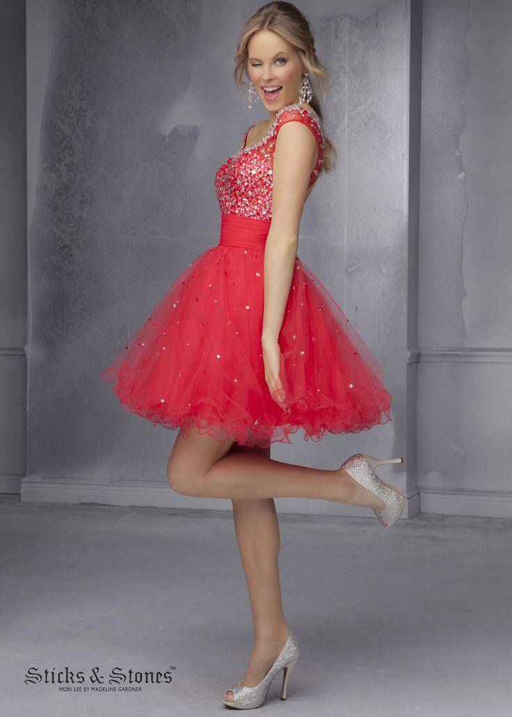 Wunderbar Babydoll Prom Kleid Von Mori Lee Galerie - Brautkleider ...