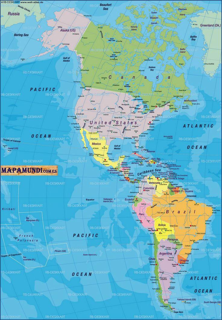 Mapa de america ubicacion de canada en america ac f for Gimnasio 6 y 45