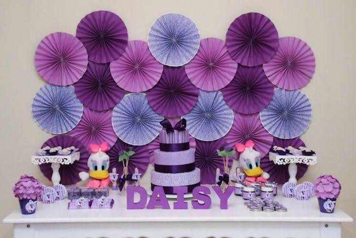 Daisy Duck themed birthday party Full of Fabulous Ideas via Kara's Party Ideas   KarasPartyIdeas.com #DonaldDuck #Disney #PartyIdeas (4)