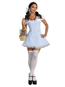 Adult Dorothy Blue Gingham Dress Costume | Cheap Dorothy Halloween Costume for Sexy