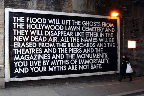 Street Artist Robert Montgomery Vandalizing London with Situationist Poetry