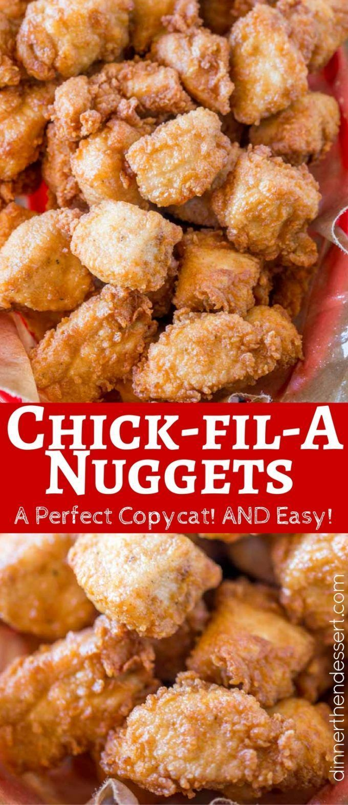 Chick-fil-A Nuggets made with chicken breast meat and no pickle juice are an spot on copycat of the original nuggets without the hefty price tag!