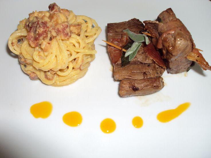 """""""Saltimbocca alla Romana""""  """"Spaghetti alla Carbonara"""""""