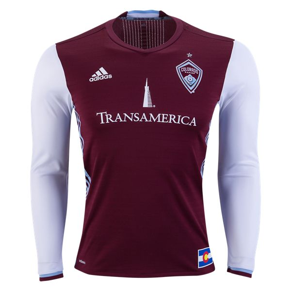 adidas Colorado Rapids Long Sleeve Authentic Home Jersey 2016