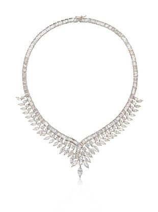 71% OFF CZ by Kenneth Jay Lane Vintage-Inspired Marquise & Baguette Necklace