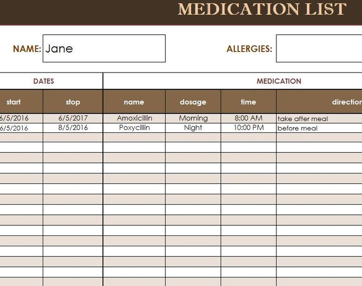 medical record template