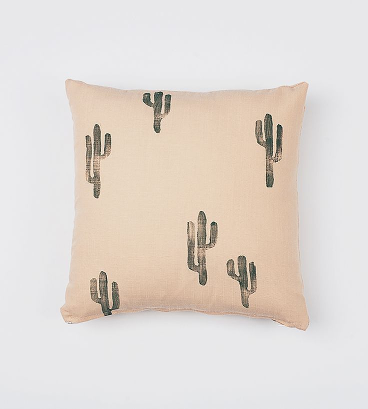 Peach Cactus Pillow Cover by Confetti Riot on Scoutmob Shoppe