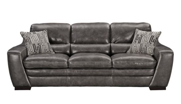 This Is Our Couch Grant Graphite Leather Sofa
