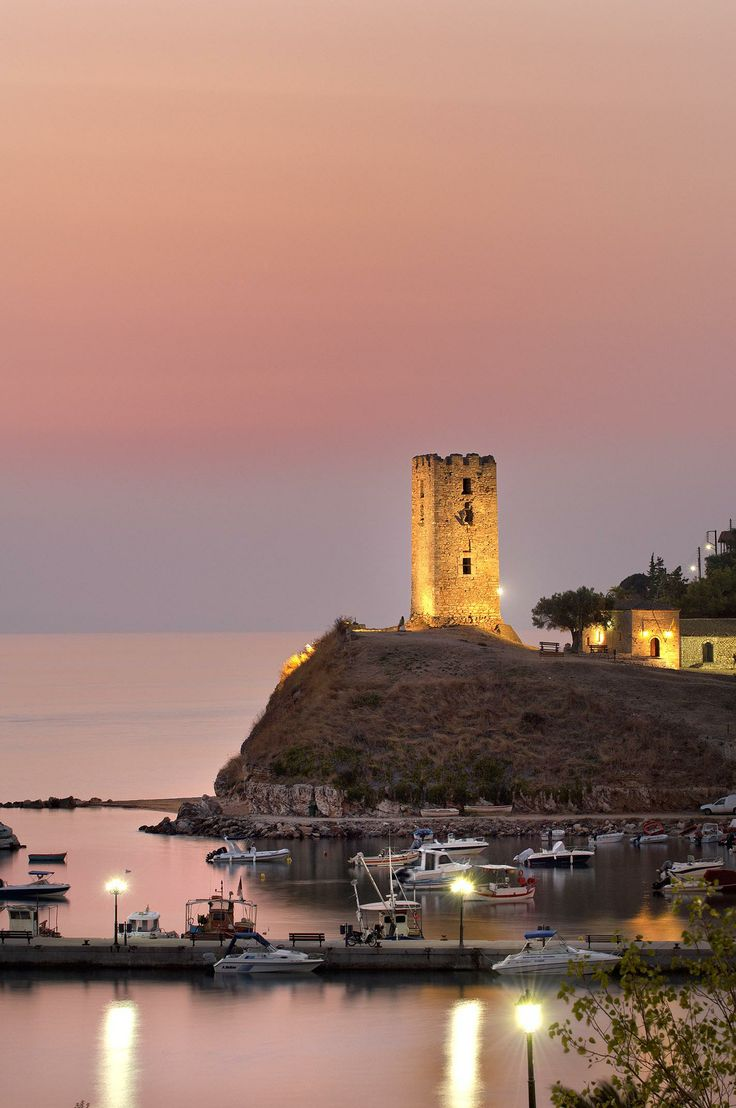 St Paul Tower in N. Fokea, Halkidiki, Greece