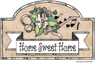 Home Sweet Home ready to print clip art