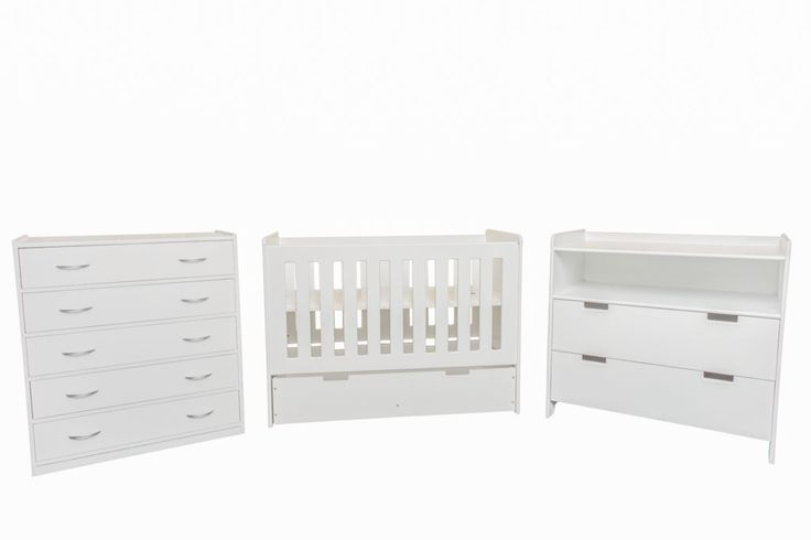 BED CITY Chelsea baby cot R2 799, Chelsea compactum R2 499, Lusern chest of drawers R1 999. Call them on 014 537 2510.