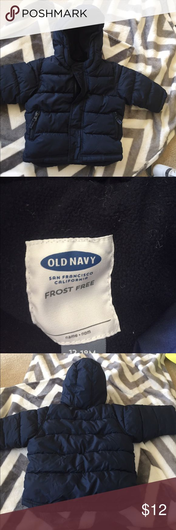 Old navy coat size 12-18 months Gently used-no defects! Very warm :) navy color. Old Navy Jackets & Coats Puffers