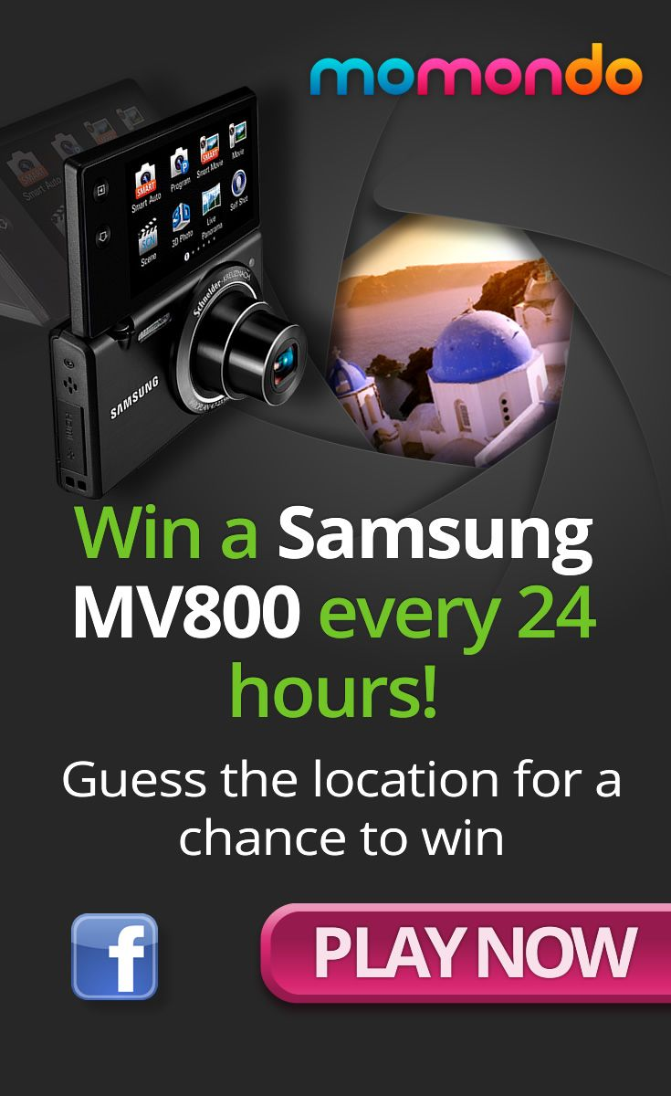 We\'re giving away a slick Samsung MV800 digital camera every 24 hours. Enter today\'s prize draw now!