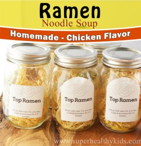 Commercial top ramen has 1660 mg of sodium! Ours has 150mg!!  Much better for kids! Homemade Top Ramen {Low Sodium} | Healthy Ideas for Kids