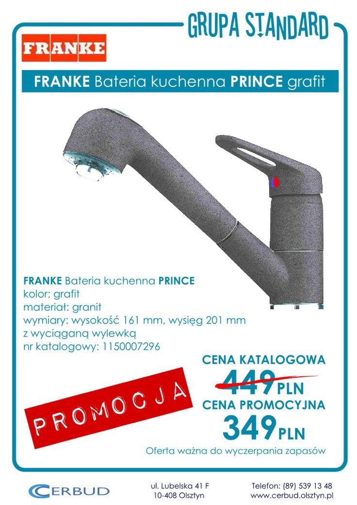 FRANKE Bateria kuchenna PRINCE grafit