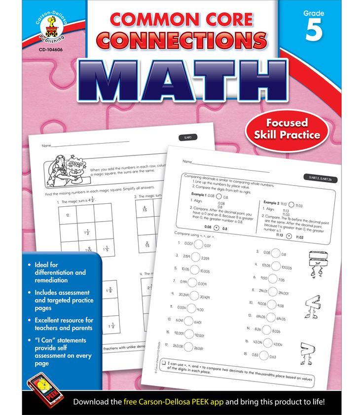 80 best lesson plans images on pinterest lesson planning lesson carson dellosa common core connections grade 5 math workbook for mathematics multicolor fandeluxe Choice Image