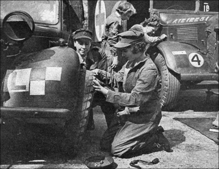 Princess Elizabeth serving as a mechanic in the... - Historical Times