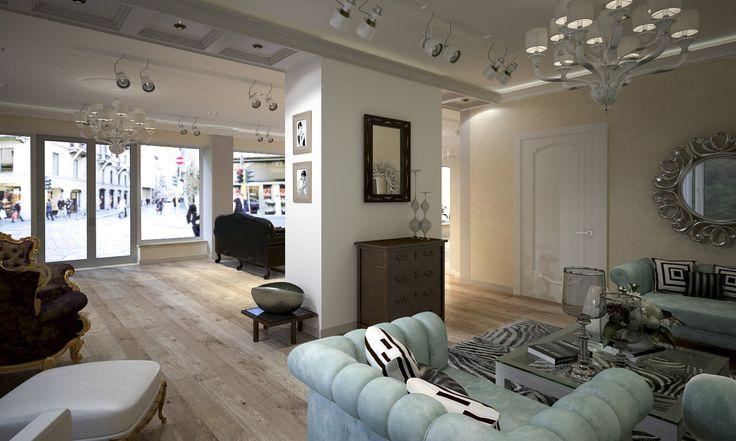 Выставочный зал - Дизайн проект интерьера магазина классической мебели. Архитектор-дизайнер Инна Войтенко.