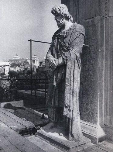 Dace in pavonazzetto dal Foro di Traiano sull'arco di Costantino