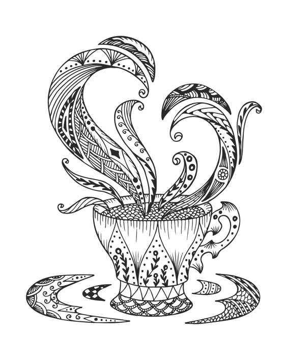 Coloring Book Using Water : 725 best ✐☕adult colouring~coffee~tea~cakes ☕✐ images on pinterest