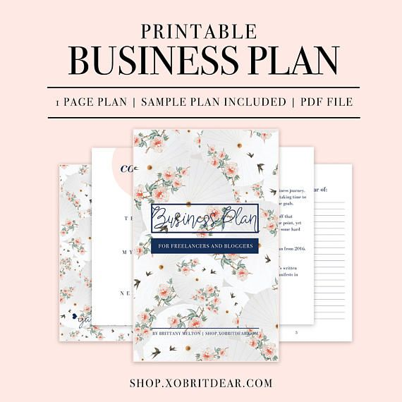 Business Plan Template Business Planner Page  Business