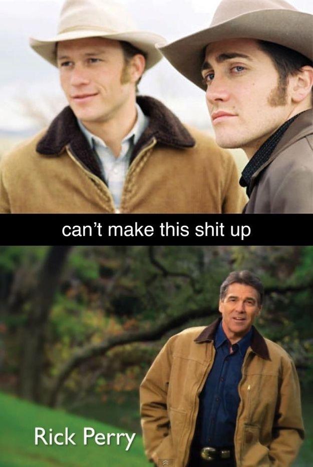 Rick Perry's Jacket Looks Familiar