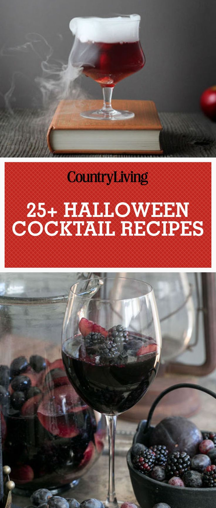 Save these halloween cocktail recipes for later by pinning this image and follow Country Living on Pinterest for more.