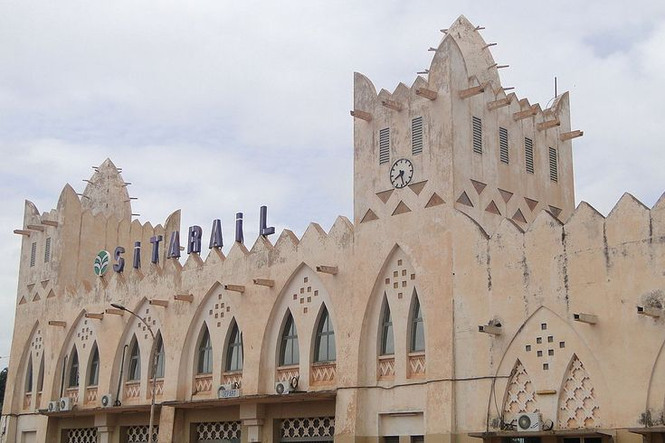 The railway station in Bobo Dioulasso was built during the colonial era and remains in operation.