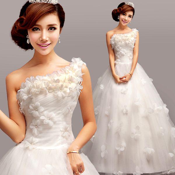 Multe rochii de mireasa coreean dantelă umăr coreeană coada mare Princess Bride 2015 de iarna nou personalizat - SHANGHAI HAPPY-WING SUPPLY CHAIN MANAGEMENT CO.,LTD.