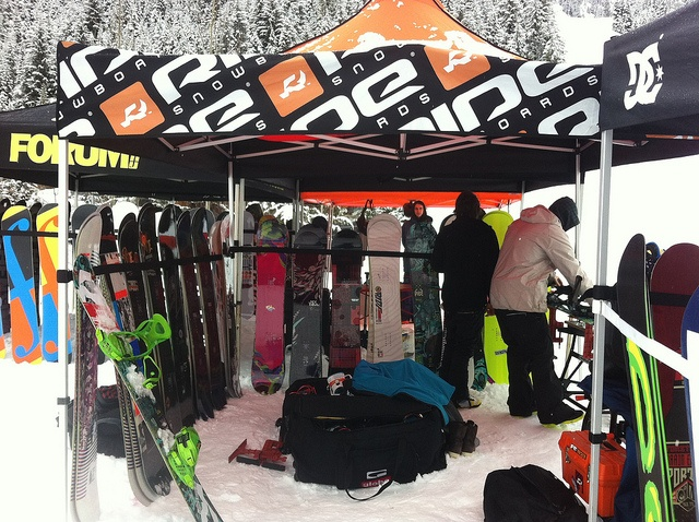 A demo area for everyone to check out the latest gear and give it a test too. Also a good marketing tool for sponsors.  2012-2013 Demo- Evolution Whistler