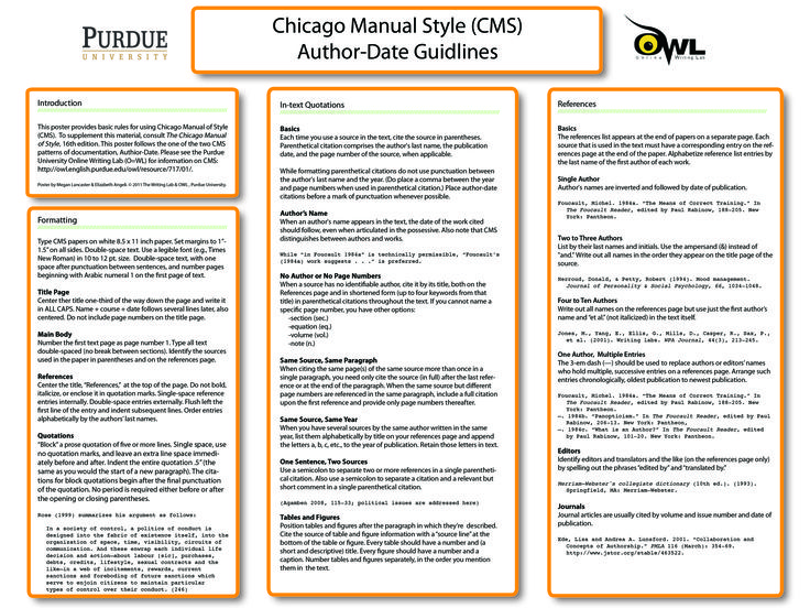 chicago manual of style example