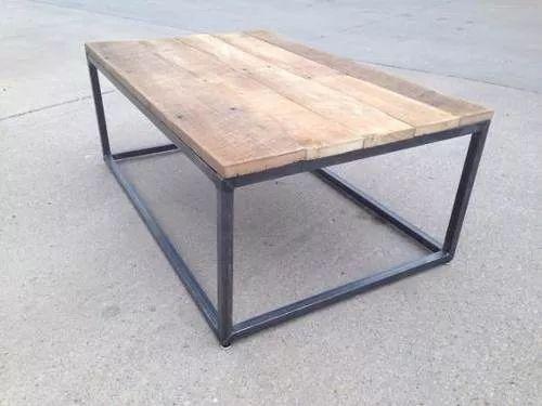 mesa ratona hierro y madera. super oferta!!!!!! industrial.
