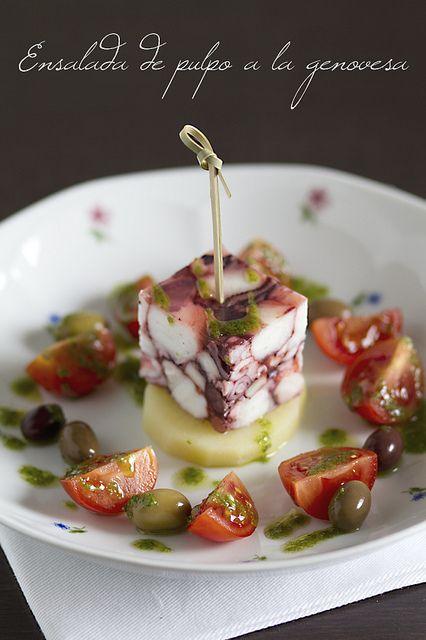ensalada de pulpo a la genovesa - #plating #presentation