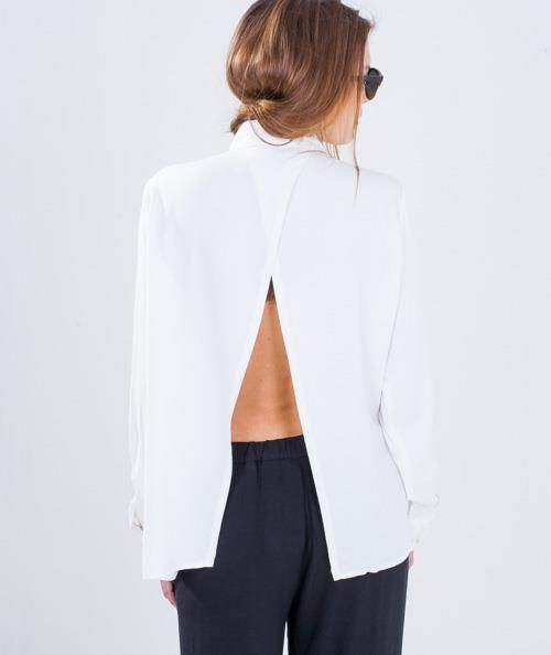 Open back Maibritt Shirt #mbyM #WhiteShirt