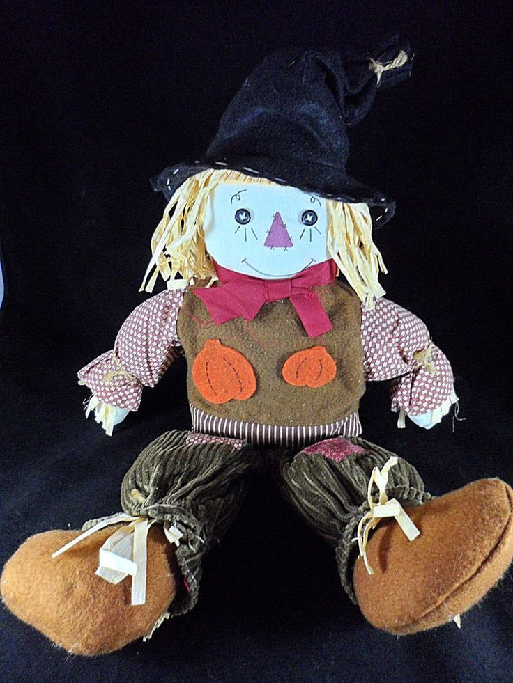 "Handmade Scarecrow Doll Autumn Harvest Thanksgiving Home Decor 23"" Tall  #Unbranded"