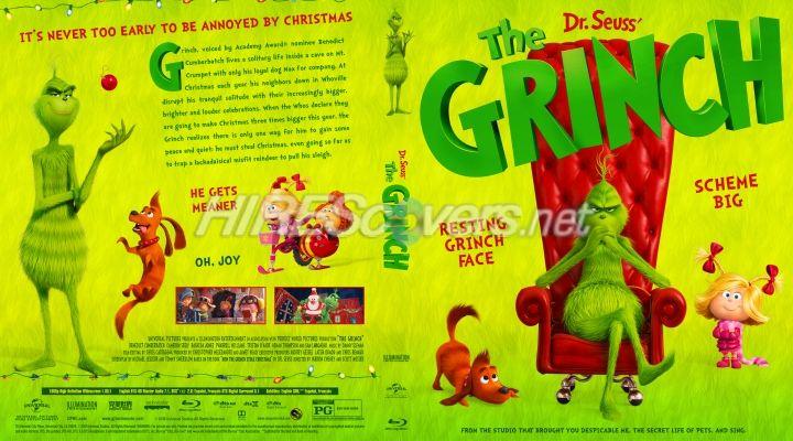 The Grinch 2018 Custom Blu Ray Cover Custom Dvd Grinch Custom