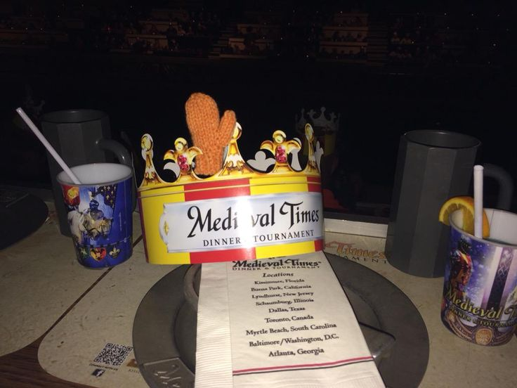 Merry Mitten about to knighted at @MedievalTimes - fun times await.