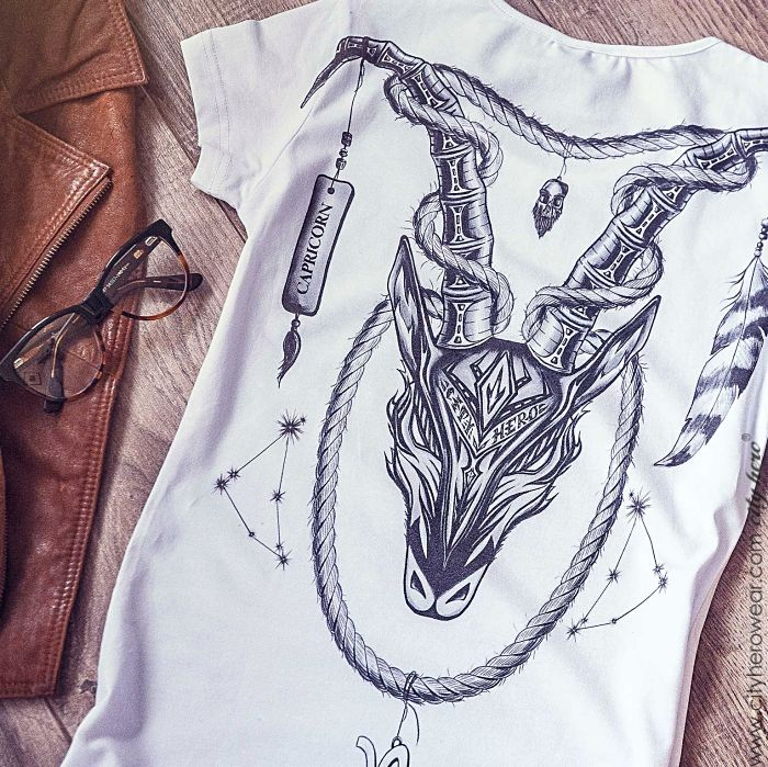 Capricorn personalized t-shirt for her