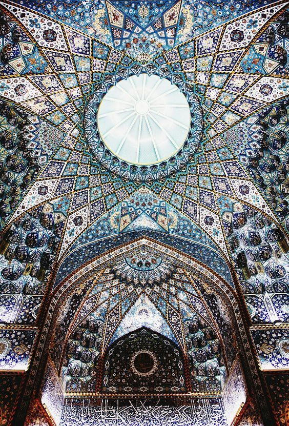 Ceiling inside the shrine of Imam Hussein in Karbala, Iraq