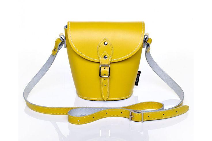 Pastel Daffodil Yellow Leather Barrel Bag